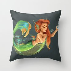 Mermaid Bubble Throw Pillow
