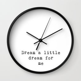 Dreamer (text) Wall Clock