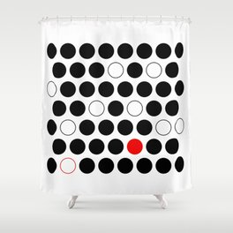 Dare To Be Different - Abstract, minimalist design Shower Curtain