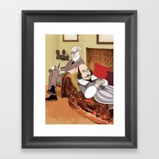Freud analysing Shakespeare Framed Art Print