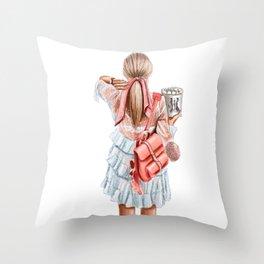 Fashion lady Throw Pillow