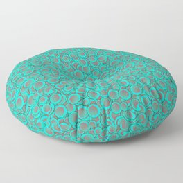 Red Blue Circles Pattern Floor Pillow