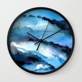 Blue marble. Wall Clock