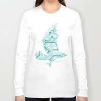 wind Long Sleeve T-shirts featuring Wind-Up Bird by Jay Fleck