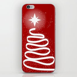 Red Scrible Christmas Tree iPhone Skin