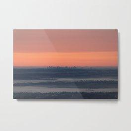 Sydney sunrise on a foggy winter morning Metal Print