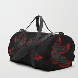 Black Red Archangel Wings Duffle Bag