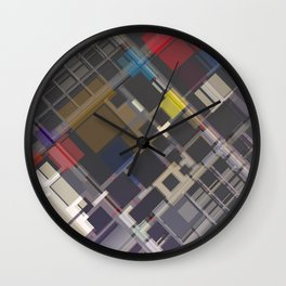 Abstract Composition 70 Wall Clock