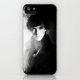AMAZING SHERLOCK - BLACK & WHITE iPhone Case