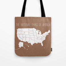 The Hand-Painted National Parks of America Tote Bag