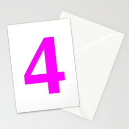 4 (FUCHSIA & WHITE NUMBERS) Stationery Cards