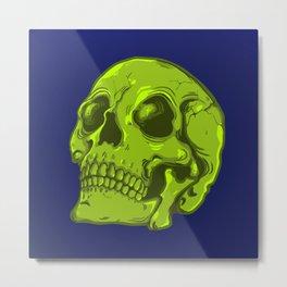 Acid Skull Metal Print