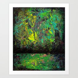 Abstract Distressed #2 Art Print