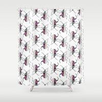 beetle Shower Curtains featuring Beetle by Bekka Kate Art