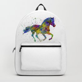 horse with multicolored fantasy Backpack