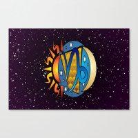 astrology Canvas Prints featuring Astrology, Capricorn by Karl-Heinz Lüpke