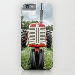 Vintage IH Farmall 450 Front Red Tractor iPhone Case