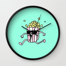 Pop Pop Corn Pop Wall Clock