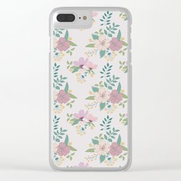 Spring pattern Clear iPhone Case