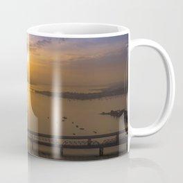 Sunrise Over Bridges Coffee Mug