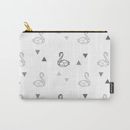 Geometric Swan Pattern Carry-All Pouch