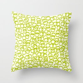 Black Tie Collection Links Olive Throw Pillow
