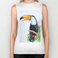 toucan Biker Tanks featuring Toucan by The Traveling Catburys