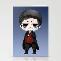 ouat Stationery Cards featuring OUAT - Chibi Killian Jones by Yorlenisama