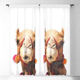 Camel Portrait Blackout Curtain
