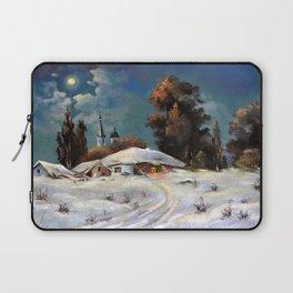 Winter in the village # 6 Laptop Sleeve