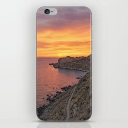 Amazing sunset wall art iPhone Skin
