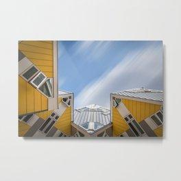 Cube houses in Rotterdam Metal Print