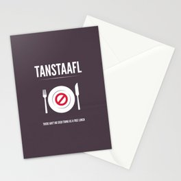 TANSTAFFL Stationery Cards