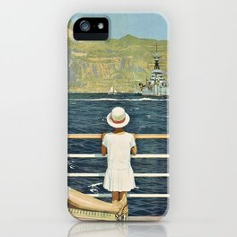 Vintage Travel Gibraltar iPhone Case