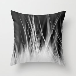 White Static Throw Pillow