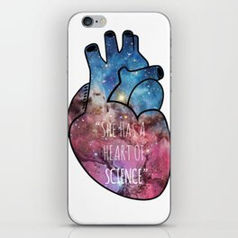 She Has a Heart of Science iPhone Skin
