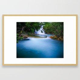 Water streaks in Croatia Framed Art Print