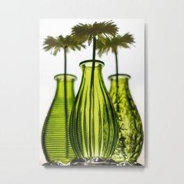 Faux Flowers Metal Print