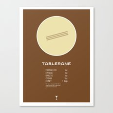 Toblerone Cocktail Recipe Poster (Imperial) Canvas Print
