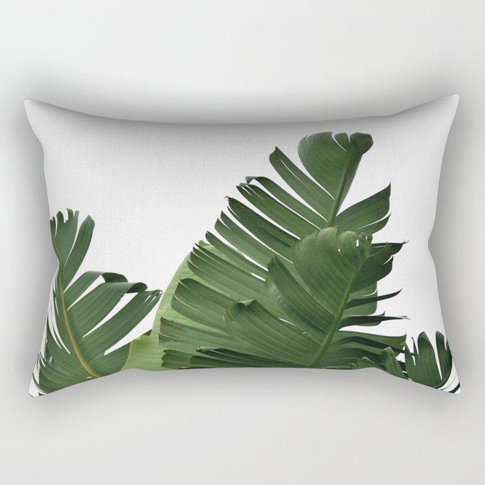 Minimal Banana Leaves Rectangular Pillow