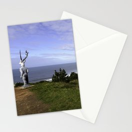 Veado Surfer Statue Stationery Cards
