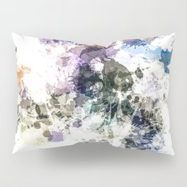 """Oops"" Pastel Paint  Splatter Abstract Pillow Sham"