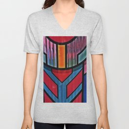 Colorful Art Deco (ish) Unisex V-Neck