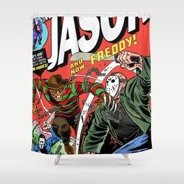 The Invincible Jason vs Freddy Shower Curtain