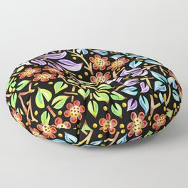 Filigree Flora Floor Pillow
