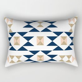 Jacs - Modern pattern design in aztec themed pattern navajo print textile cute trendy girl Rectangular Pillow