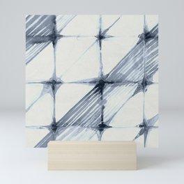 Simply Wabi-sabi in Indigo Blue on Lunar Gray Mini Art Print