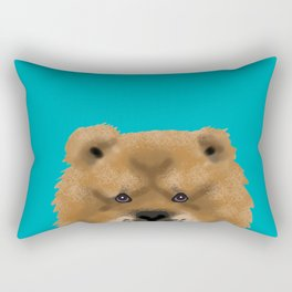 Chow Chow pet portrait custom dog art dog breeds by pet friendly Rectangular Pillow