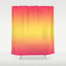 Ombre Anjo Raspberry Gold Gradient Shower Curtain