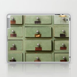 Old wooden cabinet with drawers Laptop & iPad Skin
